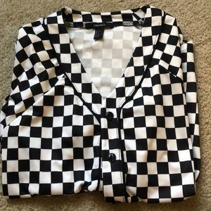 Checkered Bowling Shirt 🖤✨